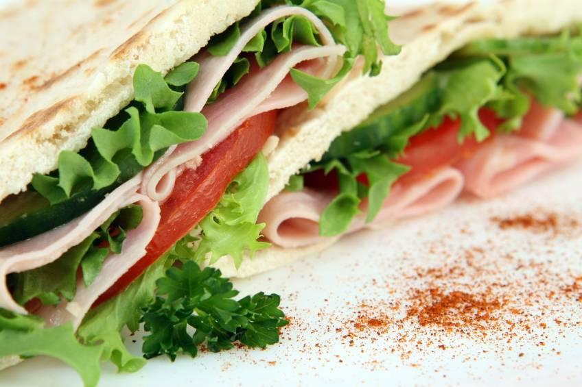 Cut Pita Sandwiches