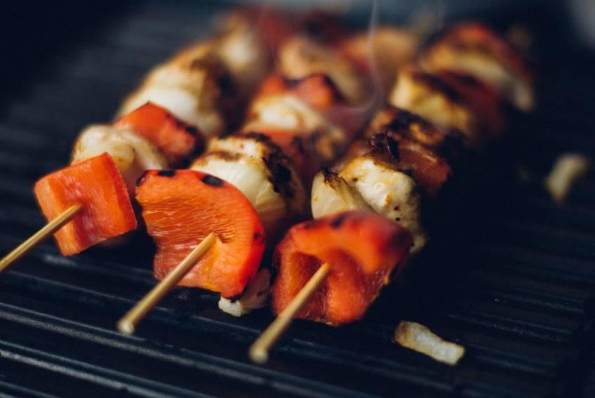 Grilled Shrimp or Grilled Chicken Kabobs