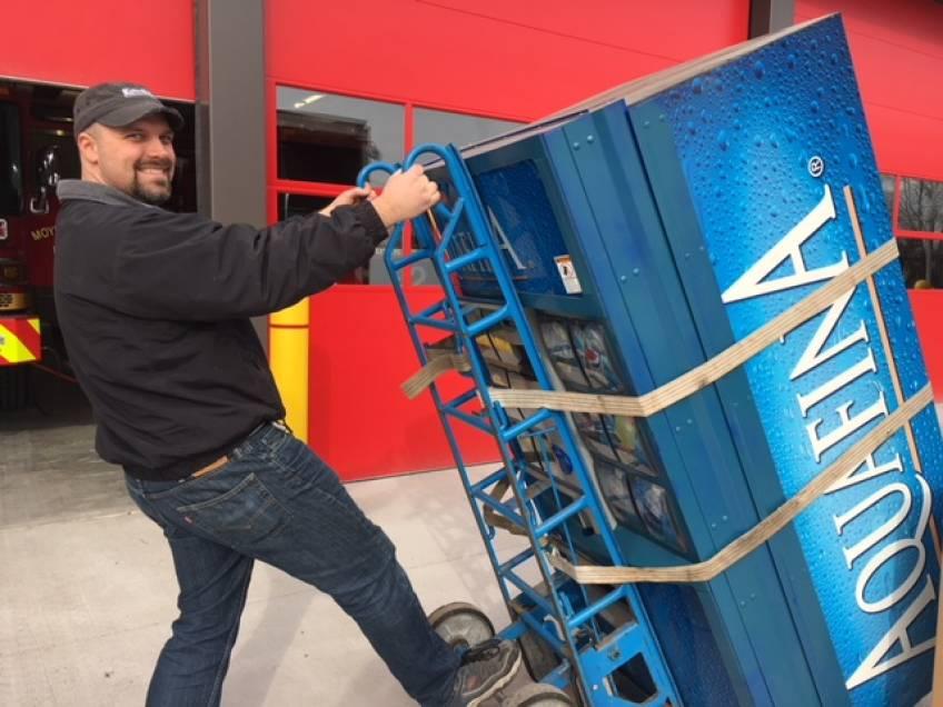 Pepsi machine install