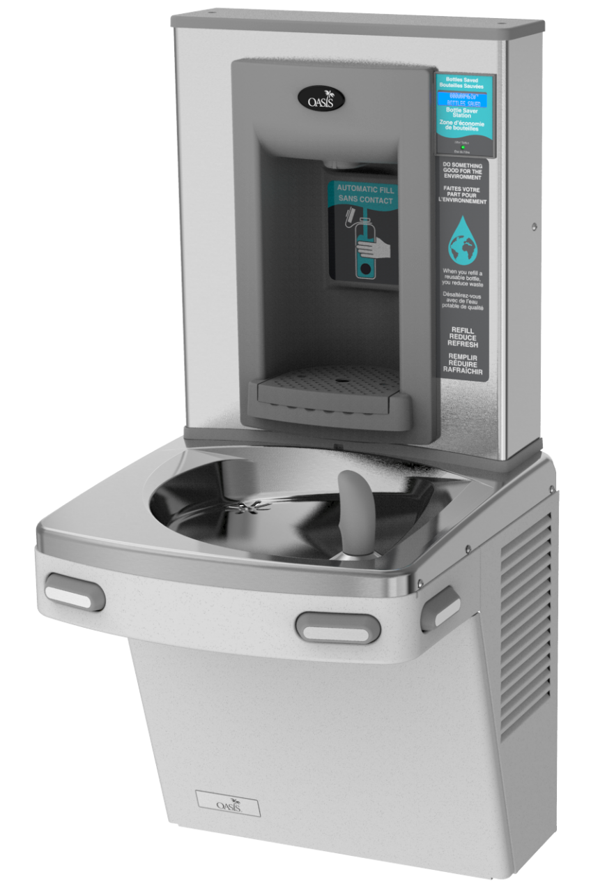 Water fountain and bottle filler